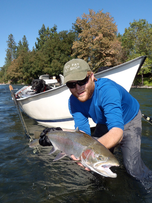 Rogue river gives carl his first steelhead wild waters for Rogue river fishing report