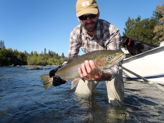 Rogue river gives carl his first steelhead wild waters for Rogue river fishing