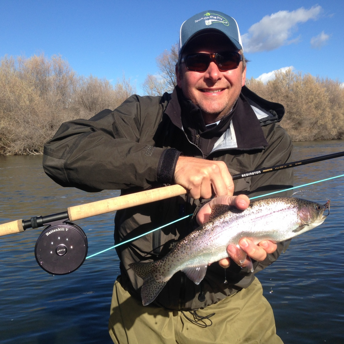 The final fall days on the klamath river wild waters fly for Fly fishing jobs