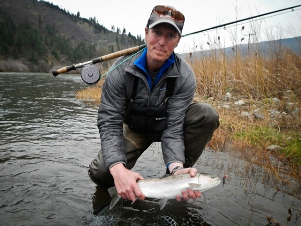 Back on the Klamath, still finding fresh fish on the swing in march! Patrick gets his first steelhead on the spey rod